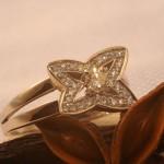 Bague étoile or et diamants