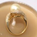 Bague perle Gold et 1 carat de diamant