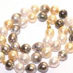 Collier-de-perles-de-Tahiti et perles Australiennes