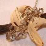 Pendentif-BULLES-D-AIR-or-gris et diamants