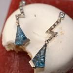 Pièces uniques topazes bleues diamants