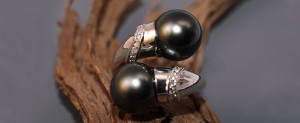 Vous et moi perles tahiti et diamants à la 1